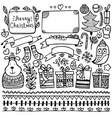 set bullet journal doodle christmas elements vector image vector image