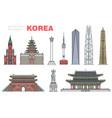 set modern and historical korean landmarks vector image vector image