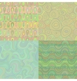 Set of mosaic seamless patterns vector image vector image