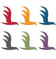 simple flat design eagles vector image