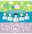 Social media network connection concept vector image vector image