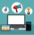 technology gadgets digital marketing vector image