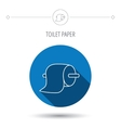 Toilet paper icon WC hygiene sign vector image