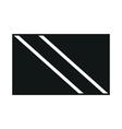 trinidad and tobago flag monochrome on white vector image