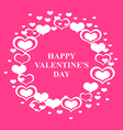 valentine circle pink vector image vector image