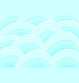 waves pattern in sea green shades background vector image
