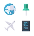 World wide traveling icons vector image