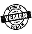 yemen black round grunge stamp vector image vector image