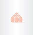 eggs icon logo symbol vector image
