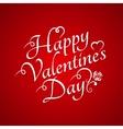 Valentines Day Vintage Sign Background vector image