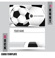 Modern Soccer Business-Card Set vector image
