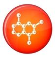 Molecule icon flat style vector image