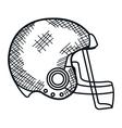 american football league icon vector image