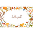 autumn botanical banner flat template vector image vector image