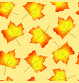 autumn seamless pattern with maple leaves vector image vector image