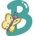 B for butterfly vector image vector image