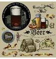 Beer design elements RGB vector image vector image
