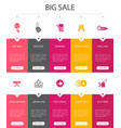 big sale infographic 10 option ui designdiscount vector image