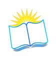 book reading and learning icon vector image vector image