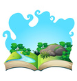 Book with nature scene vector image vector image