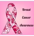 Breast cancer awareness background with painted vector image