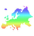bright pixel europe map vector image vector image