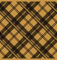 brown tartan plaid scottish fabric texture check vector image