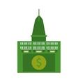 building real estate dollar money vector image vector image