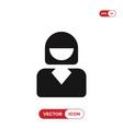 businesswoman icon vector image vector image