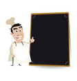 chef cook sandwich man vector image vector image