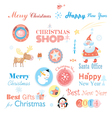Christmas set with different elements vector image vector image