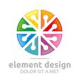 colorful element design symbol icon vector image vector image