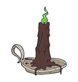 comic cartoon spooky dribbling candle vector image vector image