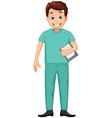 cute Nurse man cartoon vector image vector image