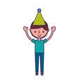 cute party boy cartoon vector image vector image