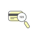 cvv code icon sample - credit card and magnifying vector image vector image