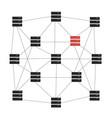 ddos hacker attack computer security vector image vector image