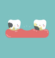 decayed teeth teeth and tooth concept of dental vector image vector image