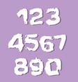 drunge numbers set stamp ink digits vector image