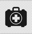 first aid kit icon in transparent style health vector image