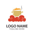 food and restaurant logo design and icon vector image vector image