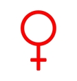 Gender sign mirror of Venus 310 vector image vector image