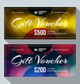 Gift and Discount Voucher Design Print Template vector image vector image