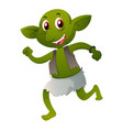 green elf in old clothes vector image