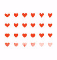 hand drawn love heart collection design elements vector image vector image