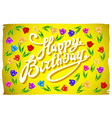 Happy birthday Tulips with text Happy birthday on vector image vector image