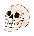 human skull cartoon motif set vector image