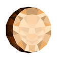 isolated geometric coconut cut low poly vector image vector image