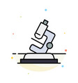 lab microscope science zoom abstract flat color vector image vector image