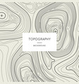 line topography map contour background vector image vector image